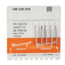 Fraises au carbure de tungstène – HM33R conique fissurée surtaillée, FG L, longueur de la tige de 21mm, 5/emballage