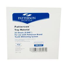 "Patterson® Vacuum Forming Material for Custom Formed Trays – 5"" x 5"" Sheets, 25/Pkg"