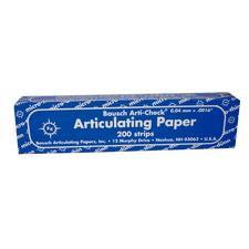 Bausch Arti-Check® Articulating Paper – Straight, Box with Booklets, 200 Strips