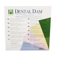 "Hygenic® Latex Dental Dam – Children's, Ready Cut, 5"" x 5"", 52/Pkg"