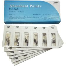 Pointes de papier absorbantes - Stérile, boîte alvéolée, 180/boîte