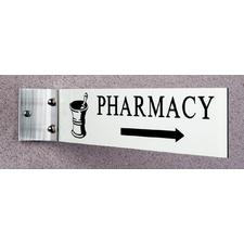"""Wall Bracket, Holds signs 8"""" W x 2"""" H or 10"""" W x 2"""" H"""