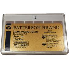 Patterson® Gutta Percha Points – Standard Sizes, 120/Pkg