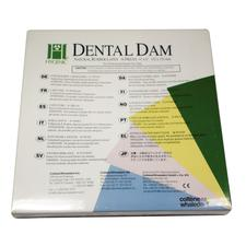 "Hygenic® Latex Dental Dam – Adults, Ready Cut, 6"" x 6"", 36/Pkg"