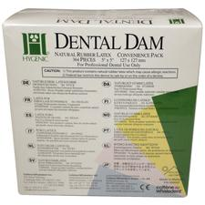 "Hygenic® Dental Dam Convenience Pack – Children, 5"" x 5"", 364/Pkg"
