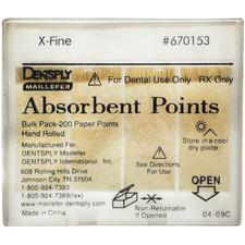 Absorbent Paper Points – Hand Rolled, Nonsterile, 200/Pkg