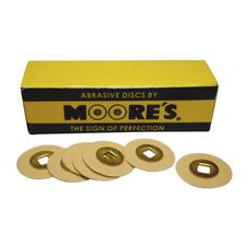 Paper Brass Center Abrasive Discs – Sand, 50/Pkg