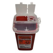 Contenants SharpSafety™ pour objets pointus et tranchants de phlébotomie – 0,95 L (1 pte), rouge
