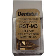 SURTEX™ Surface Treated Gold-Plated Post Refill – Medium, Length 9.3 mm, 12/Pkg