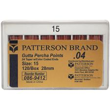Patterson® Gutta Percha Points – 28 mm, 120/Pkg