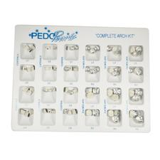 Pedo Pearls Metal Crowns, Complete Arch Kit