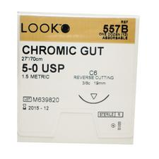 LOOK™ Chromic Gut Sutures Absorbable – Cuticular Reverse Cutting, 12/Pkg