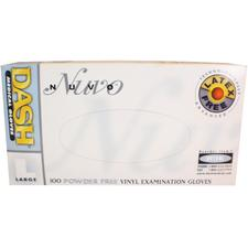 Nuvo™ Powder Free Vinyl Exam Gloves, 100/Box