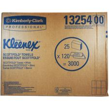 "Kleenex® Scottfold Towels – White, 9.4"" x 12.4"", 120/Pkg, 25/Case"