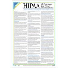 "HIPAA Privacy Posters, 12"" W x 18"" H, Laminated"