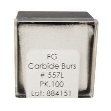 Tungsten Carbide Burs – HM 31L Straight Fissure Cross Cut FGL, Size #557L, 1.0 mm Diameter, 100/Pkg