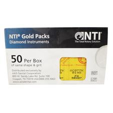 NTI® Gold Pack Diamonds Burs – FG, 50/Pkg