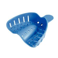 Tray-Aways® Disposable Impression Trays – Perforated, Blue, 12/Pkg