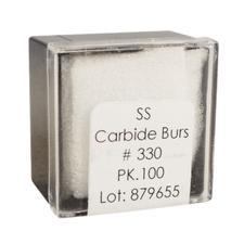 Tungsten Carbide Burs – HM 7 Pear FGSS, Size #330, 1.8 mm Diameter, 100/Pkg
