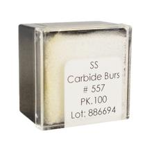 Tungsten Carbide Burs – HM 31 Straight Fissure Cross Cut FGSS, Size #557, 1.0 mm Diameter, 100/Pkg