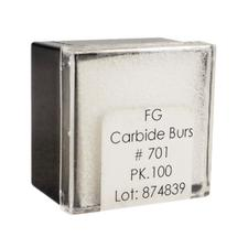 Tungsten Carbide Burs – HM 33 Tapered Fissure Cross Cut FG, 100/Pkg