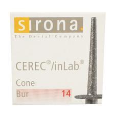 Instruments de fraisage CEREC® 3 et inLab Compact – Fraise Flip Block de 14mm de long, 6/emballage