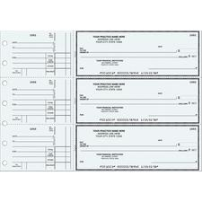 "3-On-A-Page Manual Checks, 1 Part, Personalized, 12-15/16"" W x 9"" H (overall), 300/Pkg"