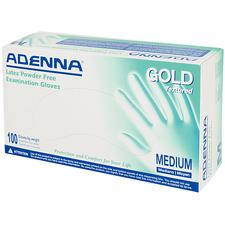 Adenna® Gold Latex Exam Gloves, Powder Free