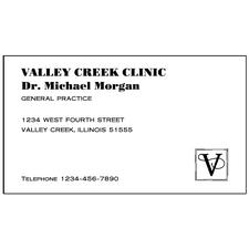 "Classic® Linen 80 lb Business Cards, Personalized,  3-1/2"" W x 2"" H, 500/Pkg"