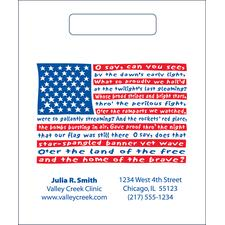 """2-Color Supply Bags, Personalized, 7-1/2"""" W x 9"""" H,500/Pkg"""