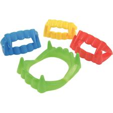 "Neon Goofy Teeth, Assorted Bold Colors, 1-3/4"" W x 3/4"" H x 2-1/4"" D, 72/Pkg"