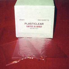 """Plasticlear,  4"""" x 4"""", 500/Box"""