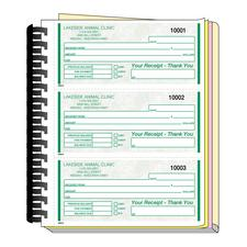 3-on-a-Page Receipt Books
