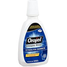 Orajel™ Antiseptic Mouth Sore Rinse, 16 oz Bottle, 3/Pkg