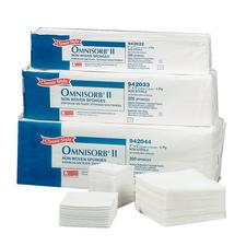 "OMNISORB® II Nonwoven Sponges – 3"" x 3"", Closed Weave, Nonsterile, 4000/Case"