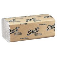 "Scott® Single-Fold Towels – White, 9.3"" x 10.5"", 250/Pkg, 16/Case"