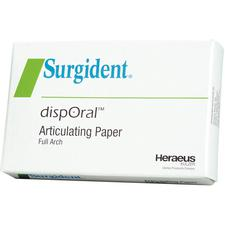 Surgident® dispOral™ Articulating Paper – 72 Microns, Red/Blue