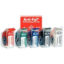 Pellicule à articuler Arti-Fol® – ultra mince, 8µm, rouleau de 20m dans un distributeur, 22mm de large