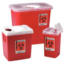 SharpSafety™ Phlebotomy Sharps Containers – 1 Quart, Red
