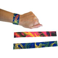 "Tie-Dye Slap Bracelets, Assorted, 9-1/2"", 12/Pkg"