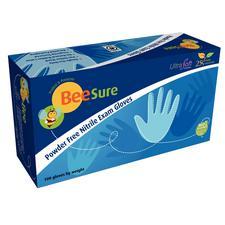 BeeSure® Nitrile Exam Gloves, 100/Pkg