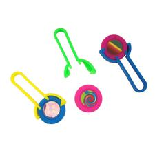 "Plastic Disk Shooters, Assorted, 4"", 48/Pkg"