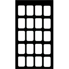 Film Mount Charts – 30 Series EZ-Tab® Gray, Open Window, Plastics, 20 Windows, Vertical Bitewing, Film Size #2, 100/Pkg