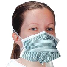 Critical Cover® PFL® N-95 Headband Face Masks – Teal Stripes, 35/Pkg
