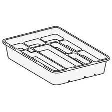 Tubs and Dividers – Tub Assembly, White, 1/Pkg