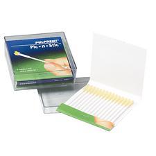 """Applicateurs Pic-N-Stic™ – longueur de 2 1/2"""", diamètre de 2 mm, plastique avec adhésif sur une extrémité, 60/boîte"""