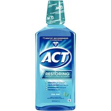 ACT Restoring™ Anticavity Fluoride Mouthwash – Cool Splash™ Mint, 33.8 oz