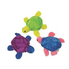 "Plush Sea Turtles, Assorted Colors, 5-1/4"", 12/Pkg"