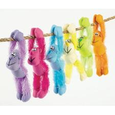 "Plush Long Arm Neon Gorillas, Assorted Colors, 8"", 12/Pkg"