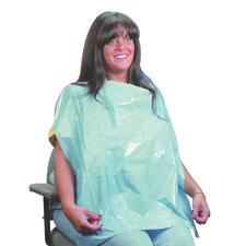 """Tabliers de protection pour patients – 26"""" x 30"""", bleu, jetables, 100/emballage"""